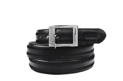 Leather belt.Isolated on white Royalty Free Stock Images