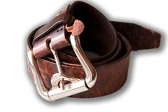 Leather belt for jeans stock photography