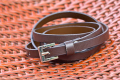 Leather belt Stock Images