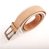 Leather belt. For men on gray background Stock Photography
