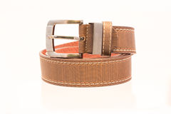 Leather belt for men Stock Photography
