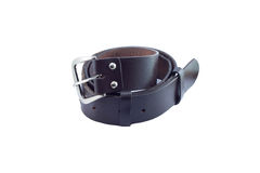 Leather belt for men on white background. Brown leather belts for men on a white background Royalty Free Stock Photos