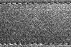 Leather belt with stitch on edges Royalty Free Stock Photos