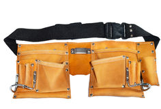 Leather belt for tools Royalty Free Stock Image