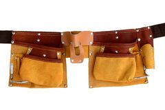Leather belt for tools royalty free stock photography