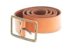 Leather belt on white Stock Image