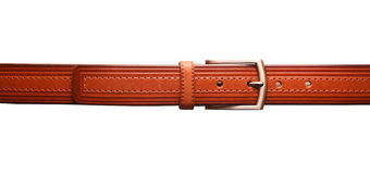 Leather belt on white background Royalty Free Stock Photo