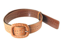 Leather belt for women Royalty Free Stock Photo
