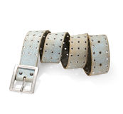 Leather belt. For women on white.With clipping path stock photo