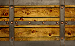 Leather belt and wooden plank Royalty Free Stock Photo