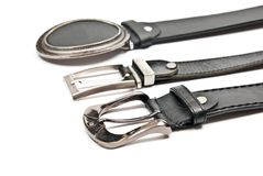 Leather belts Royalty Free Stock Images