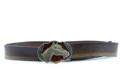 Leather belts. Leather belt isolated on white background Royalty Free Stock Image