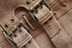 Leather With Belts Royalty Free Stock Photography