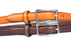 Leather Belts And Buckles Royalty Free Stock Photography