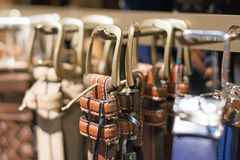Leather belts. Stock Photography