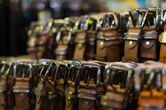 Leather belts. Royalty Free Stock Images