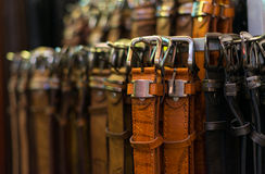 Leather belts. Royalty Free Stock Photos
