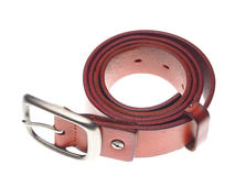 Leather belts isolated Stock Images