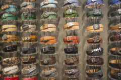 Leather Belts Royalty Free Stock Photos