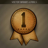 Leather best label Royalty Free Stock Photo