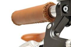 Leather bike handgrip Stock Photography