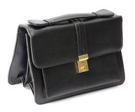 Leather black bag Stock Images