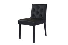Leather Black Chair. Elegant chair isolated on white. chair with fabric upholstery Royalty Free Stock Photo