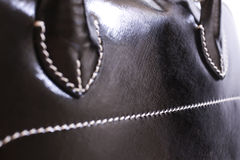 Leather Black Handbag Royalty Free Stock Images