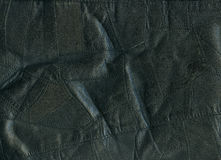 Leather. Black natural leather for background Royalty Free Stock Photography