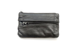 Leather black wallet Royalty Free Stock Photography