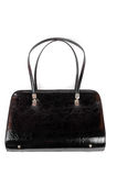 A leather black women handbag Royalty Free Stock Photo