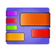 Leather blank colorful tags and labels Royalty Free Stock Photo