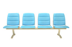 Leather blue chair isolated Stock Photography