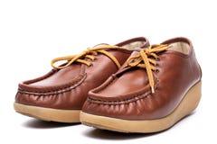 Leather Boat Shoe Stock Photo