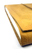 Leather book. Close-up view of a luxurious leather book over white background Stock Photo
