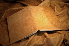 Leather book cover. Pale royalty free stock image