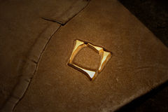 Leather book cover. Detail royalty free stock photos