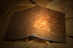 Leather book cover. Dark brown stock image