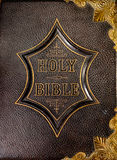 Leather book cover of the Holy Bible Royalty Free Stock Images
