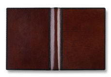 Leather book cover with spin Stock Photos