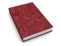 Leather book. 3d illustration of book with leather cover, over white Royalty Free Stock Photography