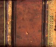 Leather book spine Stock Images