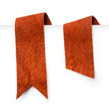 Leather bookmark ribbons Royalty Free Stock Photography