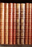 Leather books Stock Photos