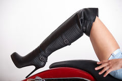 Leather Boot Royalty Free Stock Photos