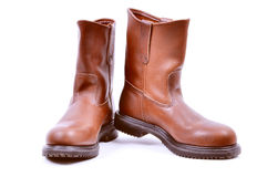 Leather Boots Royalty Free Stock Photography
