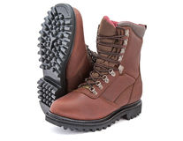 Leather boots  Stock Images