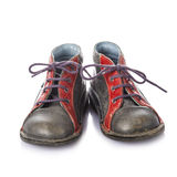 Leather boots for kids isolated on white background Stock Photo
