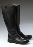 Leather boots - Stock Image Royalty Free Stock Photos
