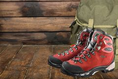 Leather boots walking. Hike hikes walker walkers activity exercise Royalty Free Stock Photo